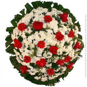 Coroa de Flores Tradicional Vermelha