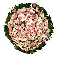 Funerária - Coroa de Flores Delicada Lilás