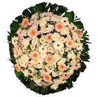 Funerária - Coroa de Flores Delicada Rosa