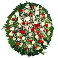 Funerária - Coroa de Flores Delicada Vermelha