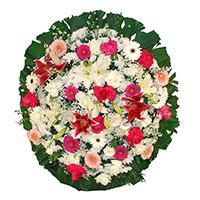 Funerária - Coroa de Flores Luxo Rosa