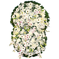 Funerária - Coroa de Flores Prime Branca