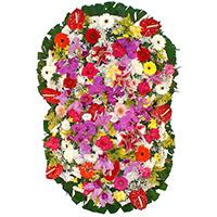 Funerária - Coroa de Flores Prime Colorida