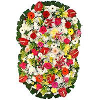 Funerária - Coroa de Flores Suprema Colorida