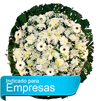 Funerária - Coroa de Flores Luxo Branca