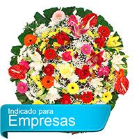 Funerária - Coroa de Flores Luxo Colorida