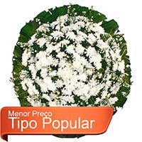 Funerária - Coroa de Flores Popular Branca