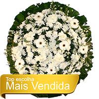 Funerária - Coroa de Flores Tradicional Branca