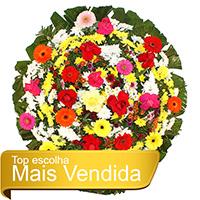 Funerária - Coroa de Flores Tradicional Colorida