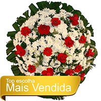 Funerária - Coroa de Flores Tradicional Vermelha